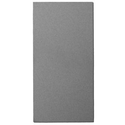 Grey Fabric Rectangle 24 in. x 48 in. Sound Absorbing Acoustic Insulation Wall Panels (2-Pack)