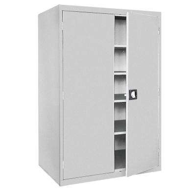 Elite Series 78 in. H x 46 in. W x 24 in. D 5-Shelf Steel Freestanding Storage Cabinet in Dove Gray