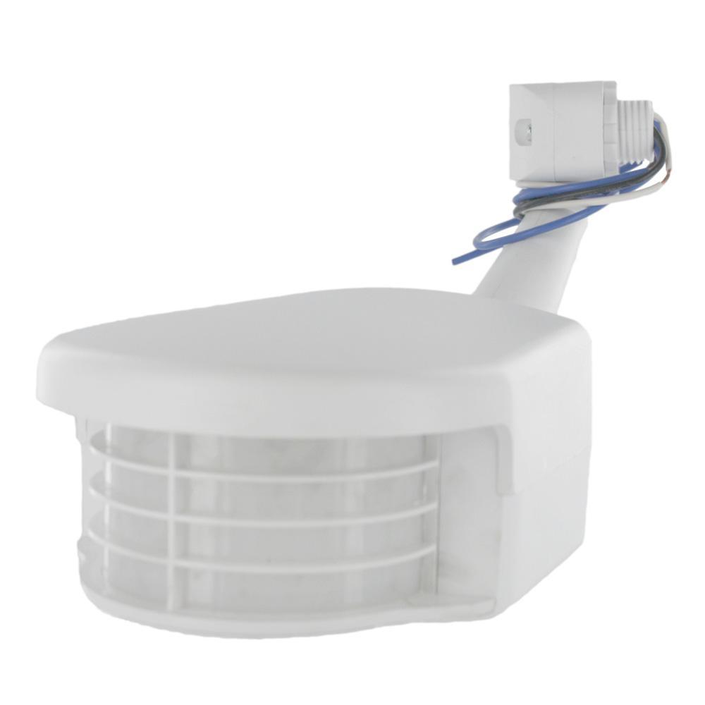 120-Volt Residential Grade Passive Infrared 2500 sq. ft. 100° Outdoor Occupancy Sensor, White