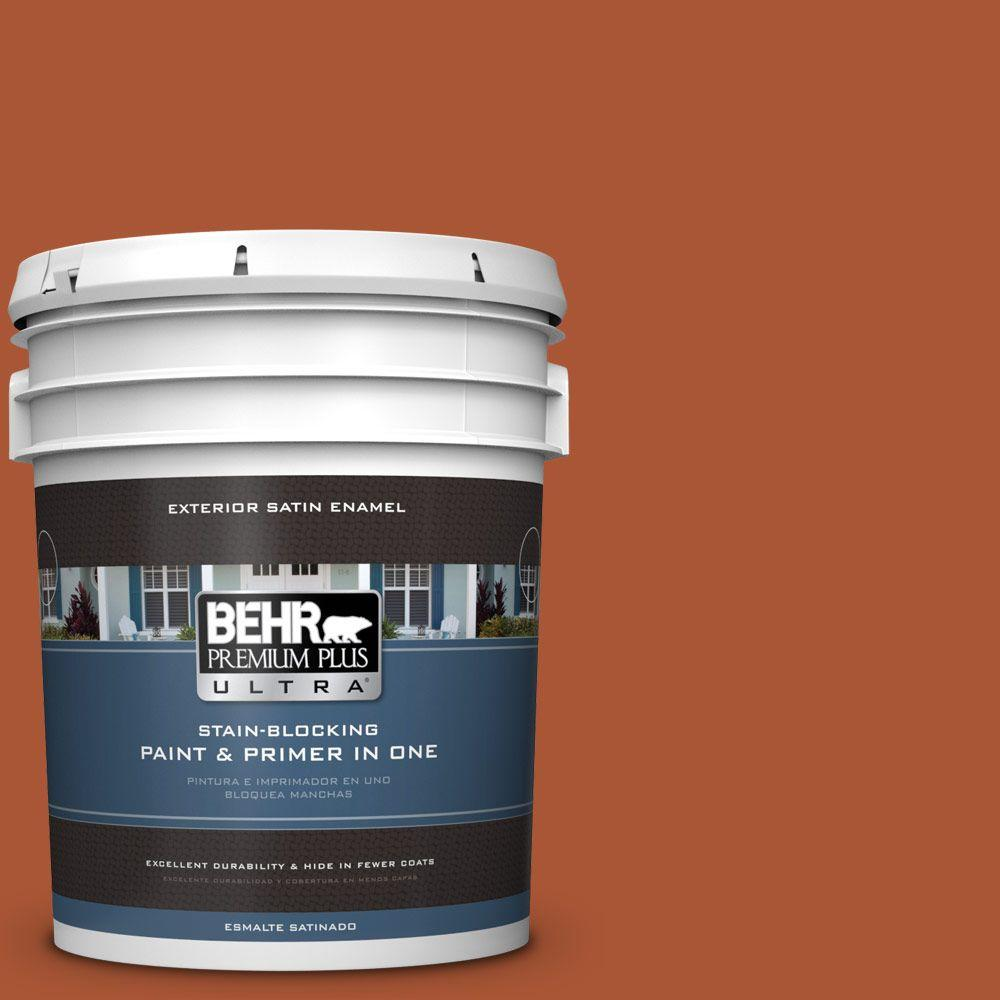 BEHR Premium Plus Ultra 5-gal. #S-H-240 Falling Leaves Satin Enamel Exterior Paint