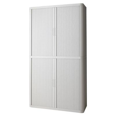Paperflow easyOffice 80 in. Tall with 4-Shelves Storage Cabinet in Grey