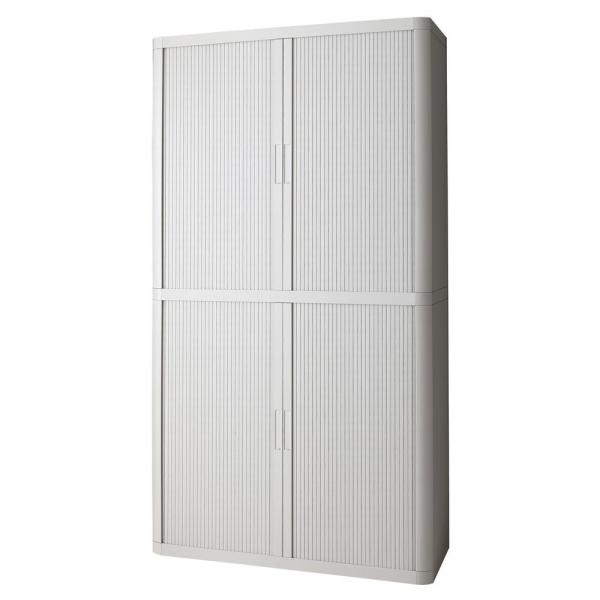 Paperflow easyOffice Storage Cabinet, 80 in. Tall with 4-Shelves, Grey EE000007