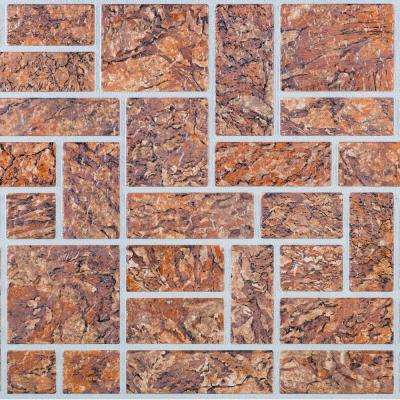 3D Retro 16/1000 in. x 39 in. x 19 1/2 in. Brown Ornamental PVC Wall Panel