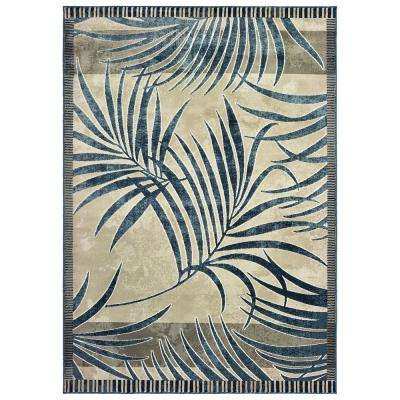Panama Jack Original Palm Blueberry 7 ft. 10 in. x 10 ft. 6 in. Area Rug