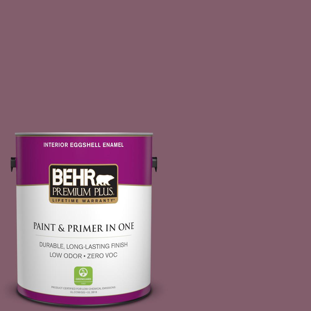 BEHR Premium Plus 1-gal. #BIC-35 Vintage Plum Eggshell Enamel Interior Paint