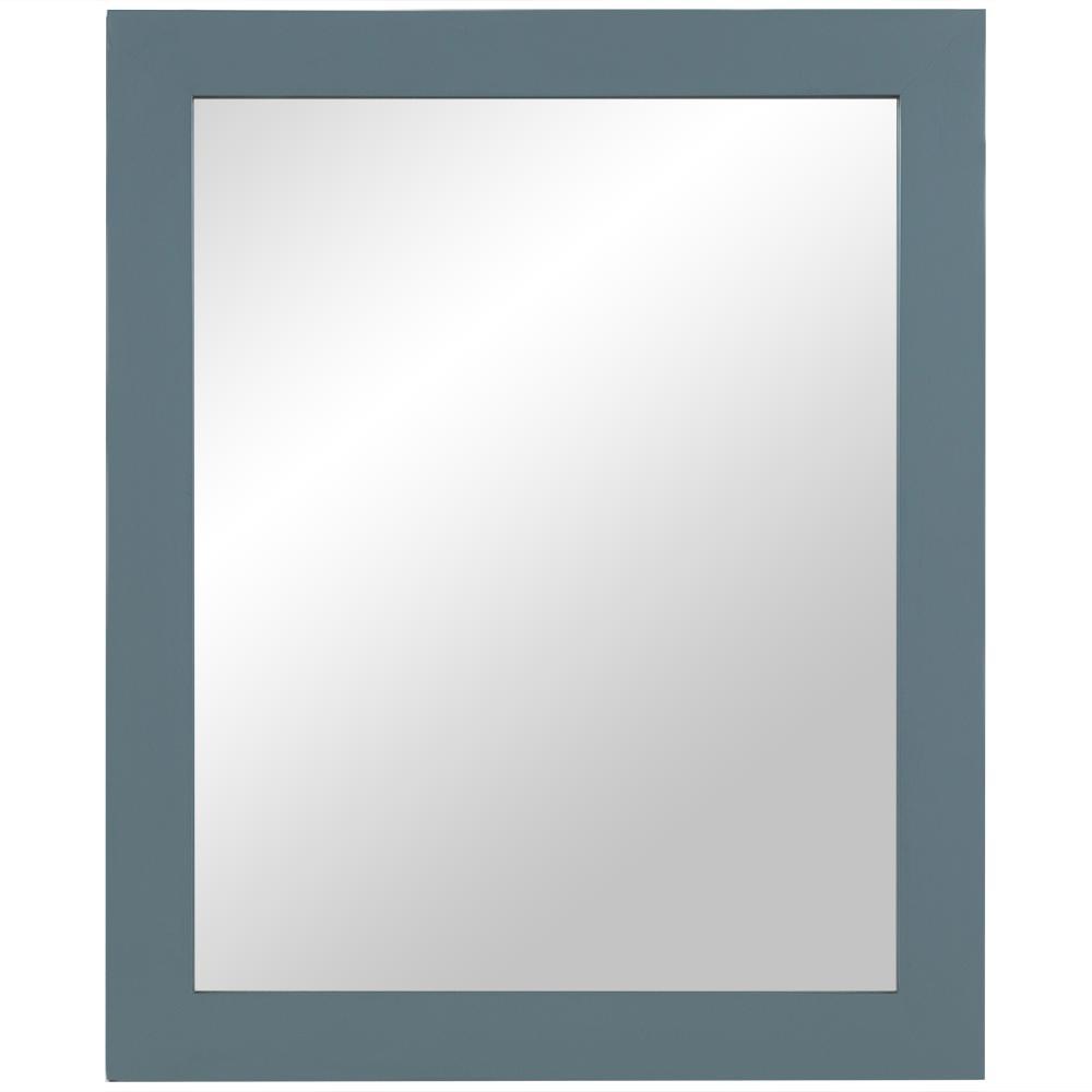25.7 in. W x 31.3 in. H Single Framed Wall Mirror in Sage