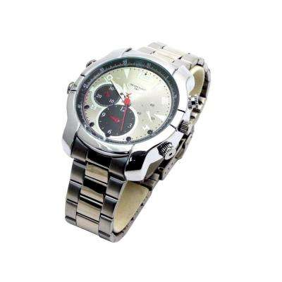HD Silver Spy Watch with Night Vision and 4GB Memory