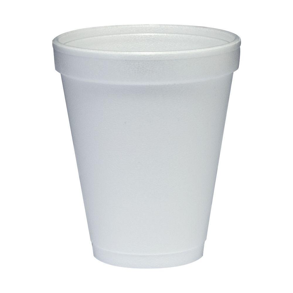 DART Insulated Foam Cups, 10 oz., White, 1000 Per Case