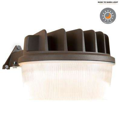 Bronze Outdoor Integrated LED Dusk to Dawn Area Light with Built-In Photocell