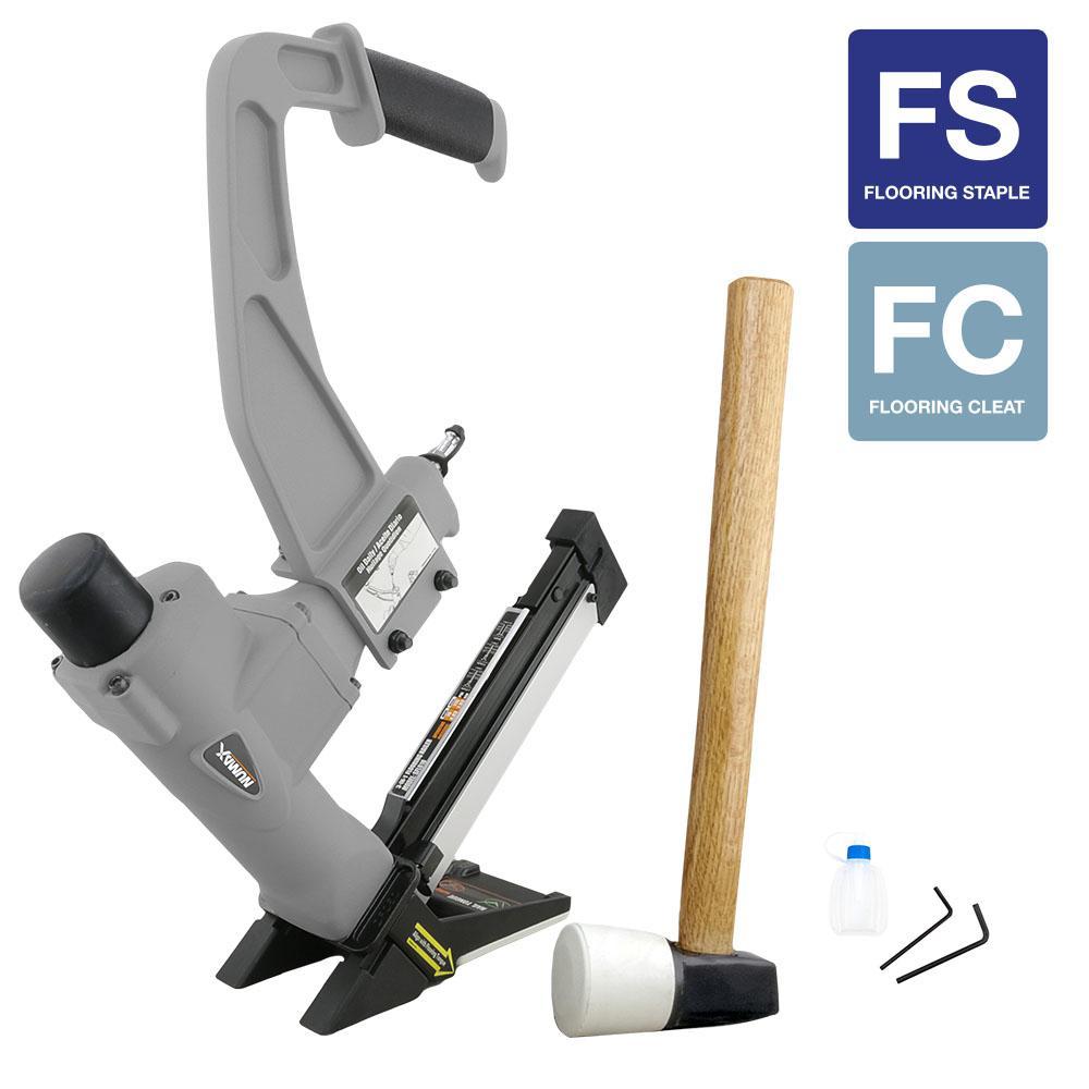 Pneumatic 3-in-1 Flooring 16-Gauge Nailer and 15.5-Gauge Stapler