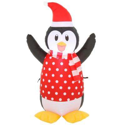 3.5 ft. Pre-Lit Airblown Inflatable Christmas Penguin