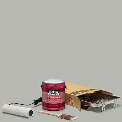 1 gal. #PPU18-11 Classic Silver Ultra Matte Interior Paint and 5-Piece Wooster Set All-in-One Project Kit