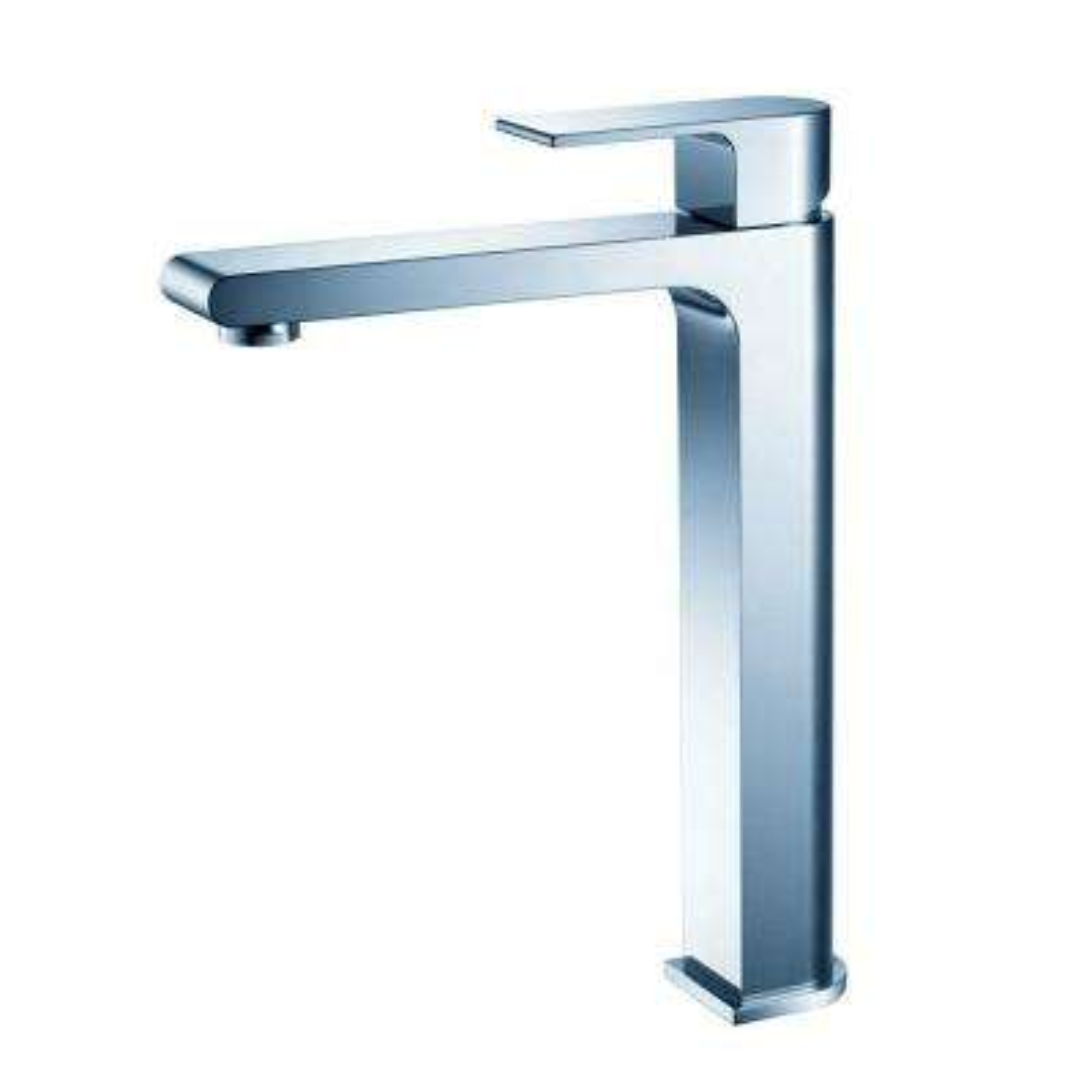 Allaro Single Hole 1-Handle Vessel Bathroom Faucet in Chrome