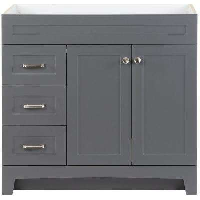 Thornbriar 36 in. W x 21.52 in. D x 34.2 in. H Bath Vanity Cabinet Only in Cement