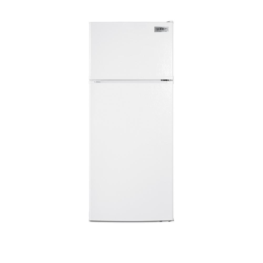 Summit Appliance 10.3 cu. ft. Frost Free Upright Top Freezer Refrigerator in White, ENERGY STAR