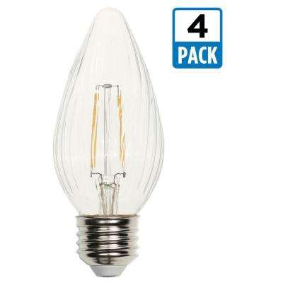 25W Equivalent Clear F15 Dimmable Filament LED Light Bulb (4-Pack)