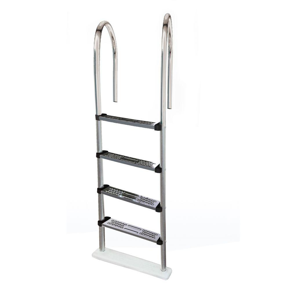 Blue Wave Premium Stainless Steel In Pool Ladder For Above Ground Pools