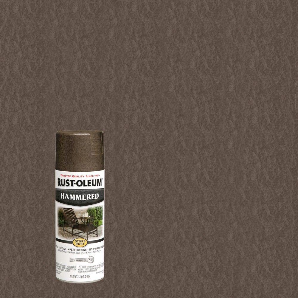 rust oleum stops rust 12 oz dark bronze protective enamel hammered spray paint 7218830 the. Black Bedroom Furniture Sets. Home Design Ideas