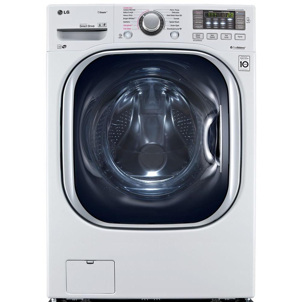 LG Electronics 4.5 Cu. Ft. High Efficiency Front Load Washer With Steam And  TurboWash In White, ENERGY STAR WM4370HWA   The Home Depot