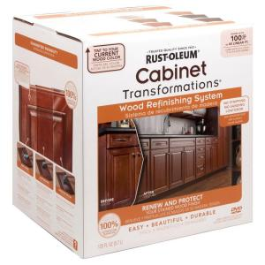 kitchen cabinet paint kit rust oleum transformations cabinet wood refinishing system 5634