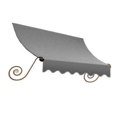 5 ft. Charleston Window Awning (24 in. H x 12 in. D) in Gray