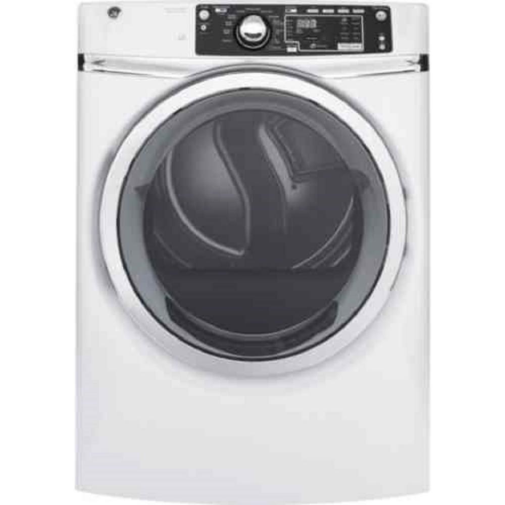 8.3 cu. ft. Electric Dryer with Steam in White