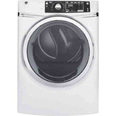 8.3 cu. ft. 240 Volt White Stackable Electric Vented Dryer with Steam, ENERGY STAR