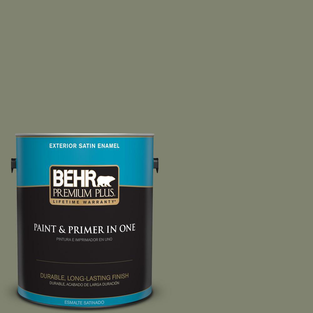 1 gal. #PPU10-18 Lizard Green Satin Enamel Exterior Paint