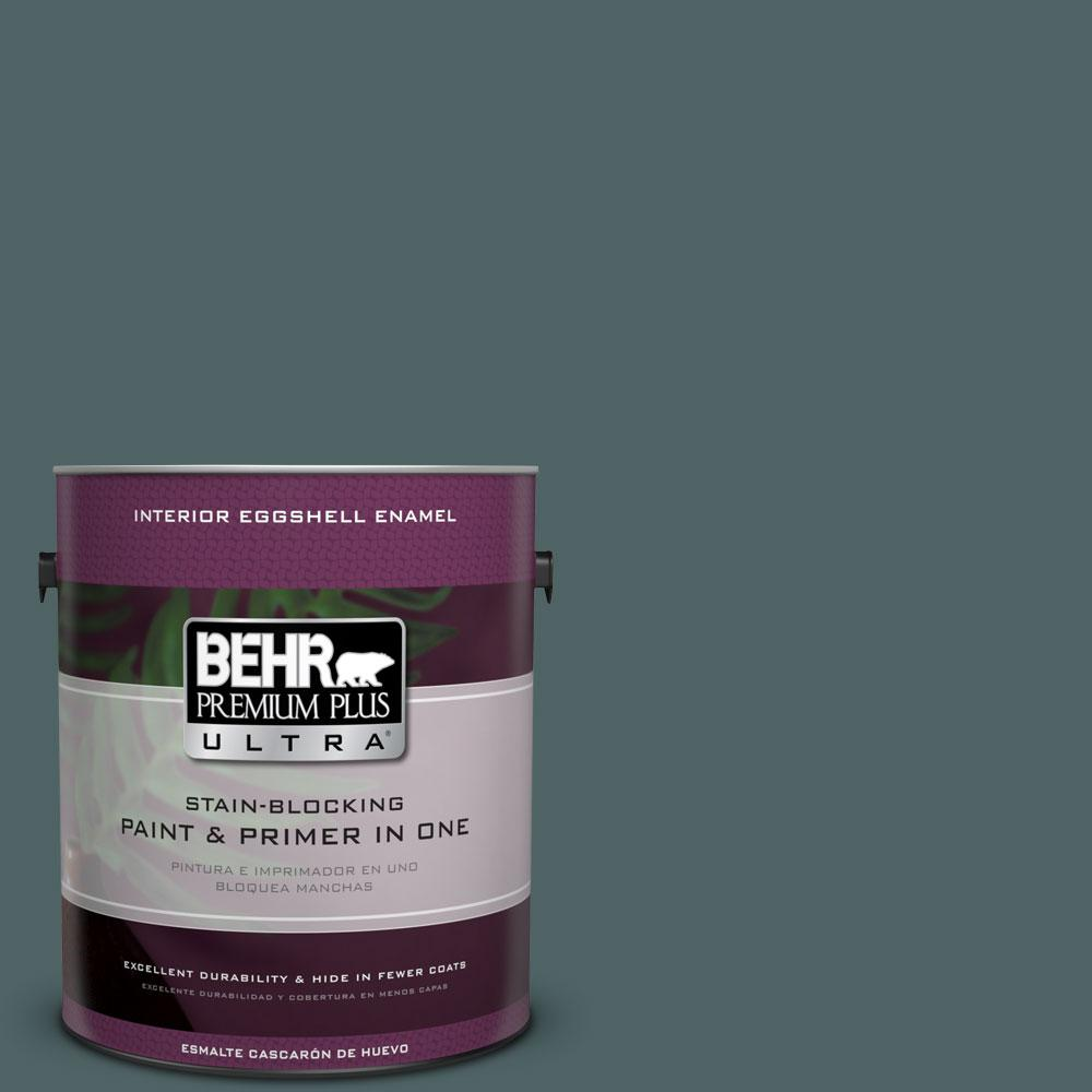 BEHR Premium Plus Ultra 1 gal. #PPU12-20 Underwater Color Eggshell Enamel Interior Paint