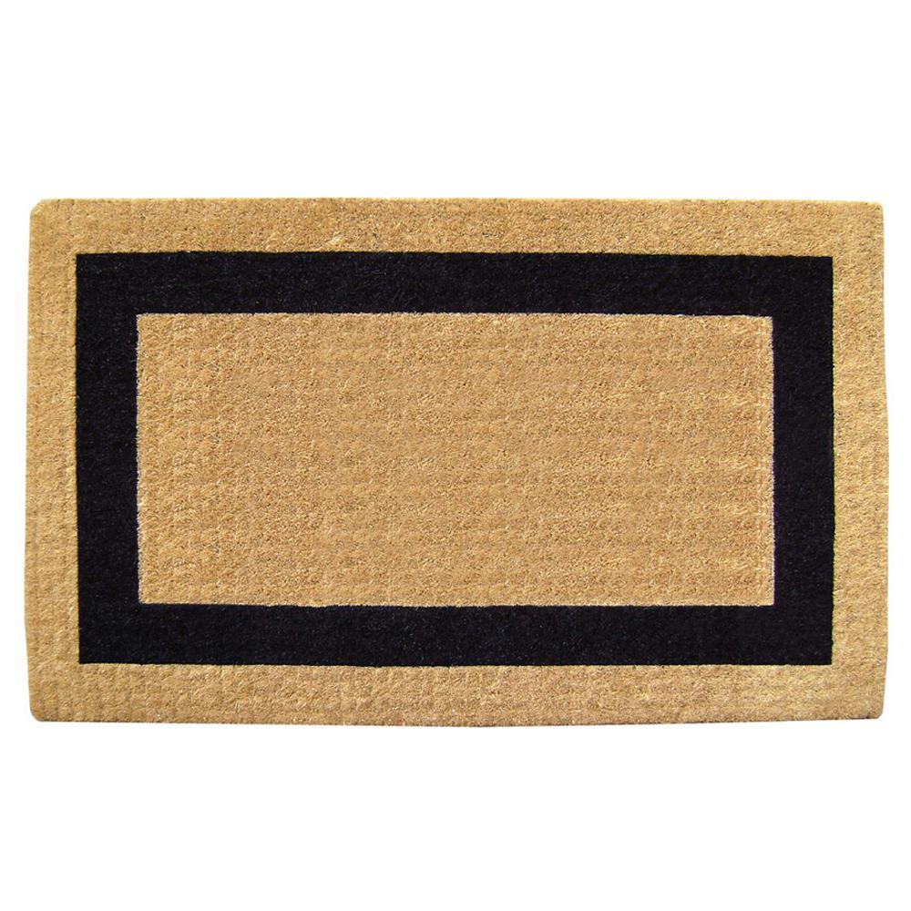 Single Picture Frame Black 22 in. x 36 in. HeavyDuty Coir Door Mat