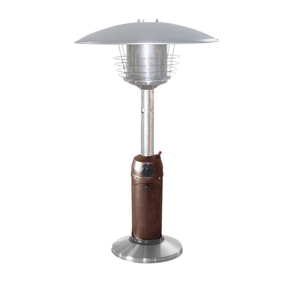 11,000 BTU Portable Hammered Bronze/Stainless Steel Gas Patio Heater
