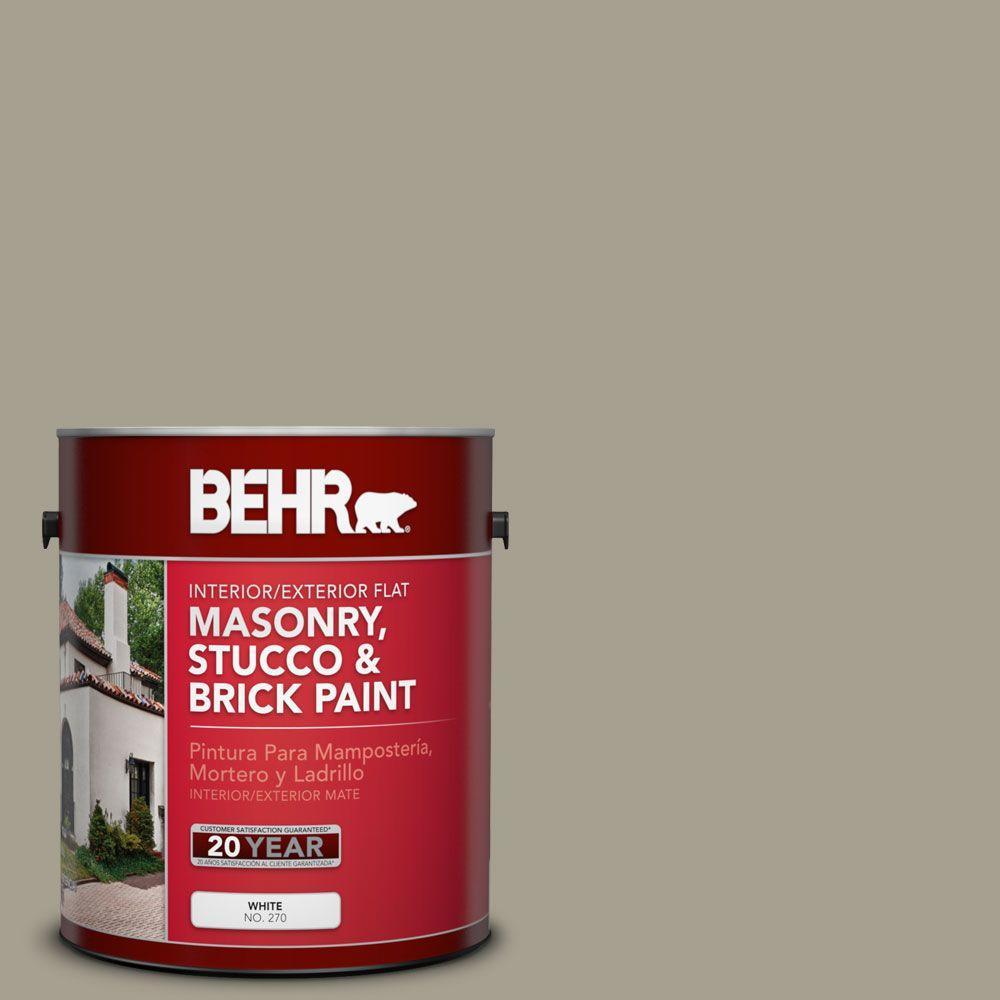 1-gal. #MS-52 Timber Flat Interior/Exterior Masonry, Stucco and Brick Paint
