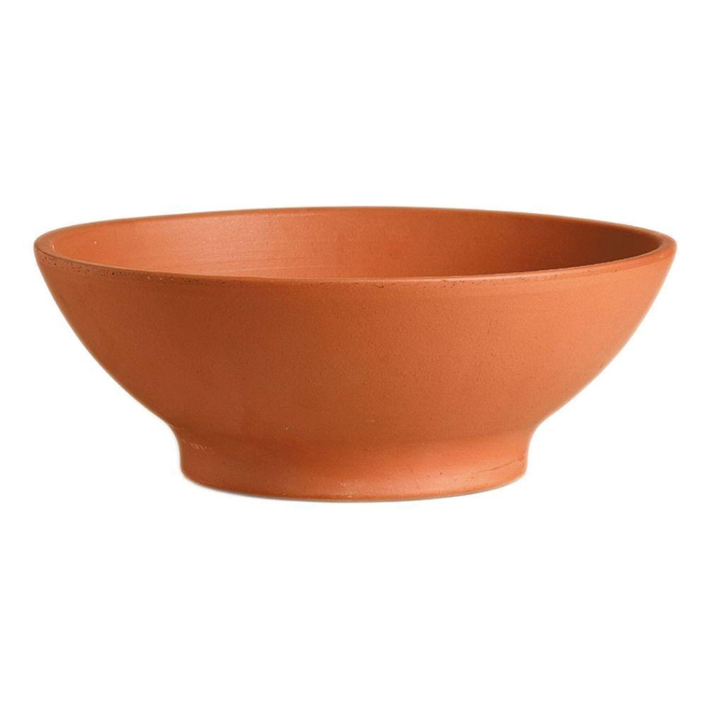 Deroma 14 1 2 In Round Terra Cotta Clay Garden Bowl T Dr