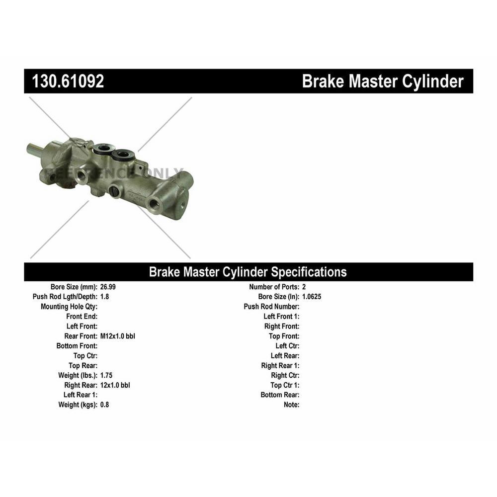 For 1997-1998 Lincoln Mark VIII Brake Master Cylinder