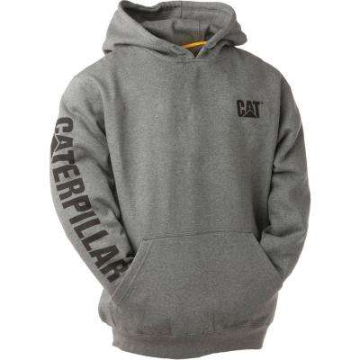 Trademark Banner Men's Large Dark Heather Grey Cotton/Polyester Hooded Sweatshirt