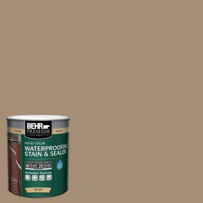 1 qt. #SC-121 Sandal Solid Color Waterproofing Exterior Wood Stain and Sealer