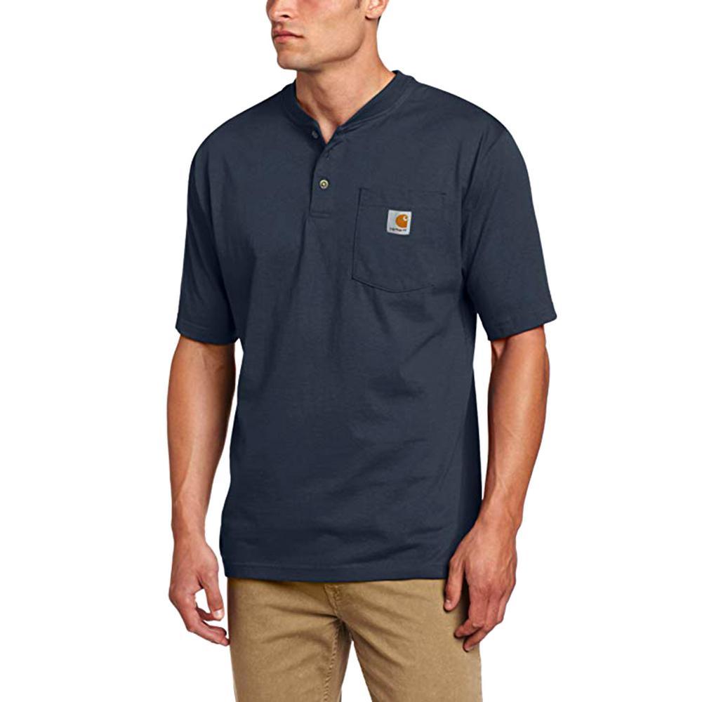 Carhartt Men S Regular Xxx Large Bluestone Cotton Short Sleeve T Shirt K84 Bls The Home Depot