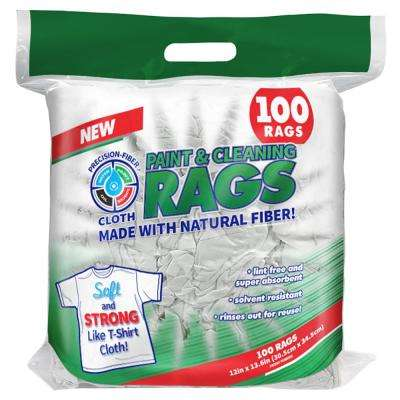 12 in. x 13.6 in. Precision-Fiber Cloth Paint and Cleaning Rags (100-Count)