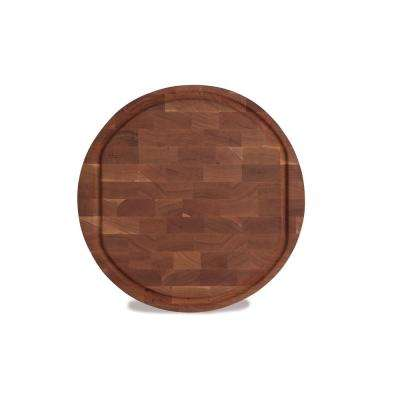 Morgan 18 in. Round Cherry End Grain Butcher Block Board