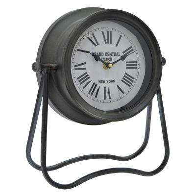 10.5 in. Black Table Top Clock