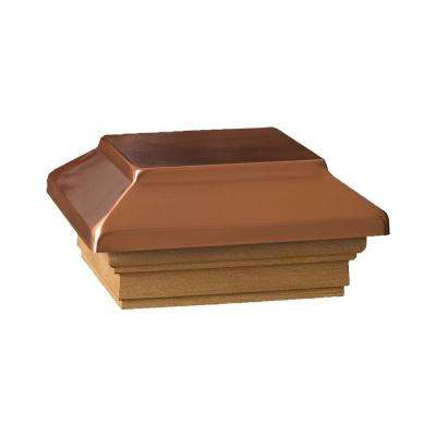 4 in. x 4 in. Cedar Victoria Copper Plateau Wood Flat Post Cap