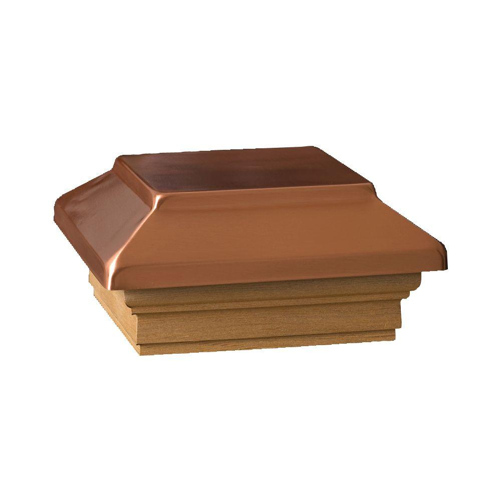 4 in. x 4 in. Cedar Victoria Copper Plateau Wood Flat