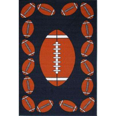 Fun Time Football Time Multi Colored 19 in. x 29 in. Accent Rug