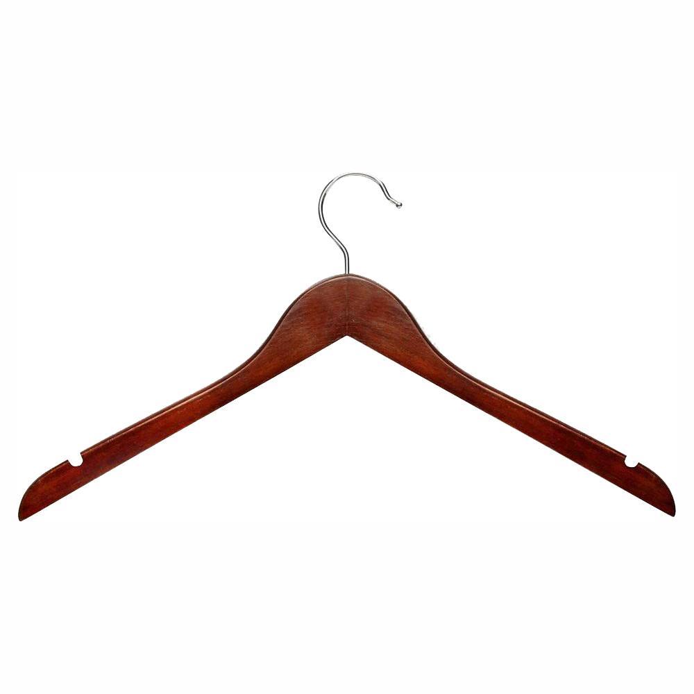 Cherry Finish Basic Shirt Hanger (20-Pack)