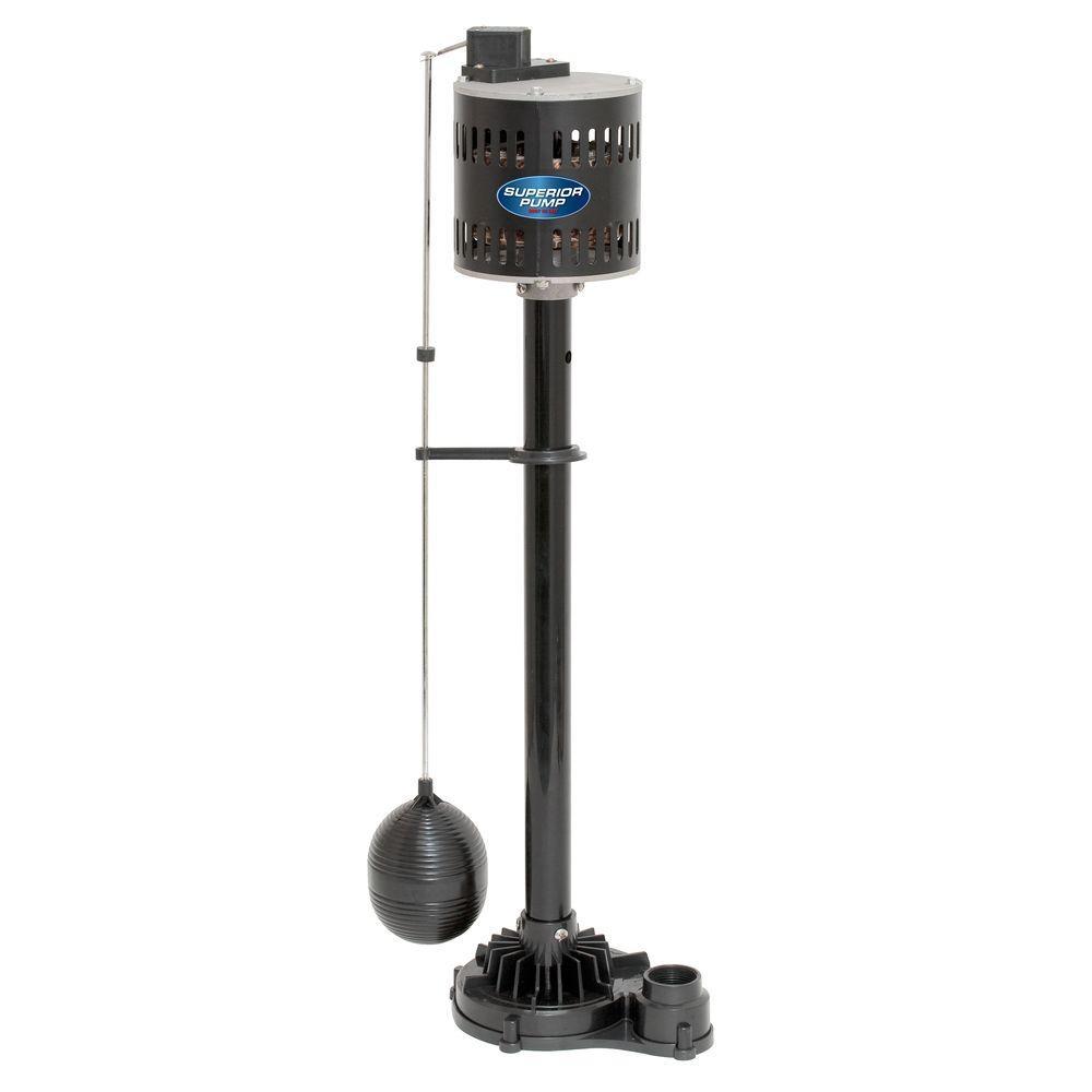 Superior Pump 1/3 HP Non-Submersible Pedestal Sump Pump