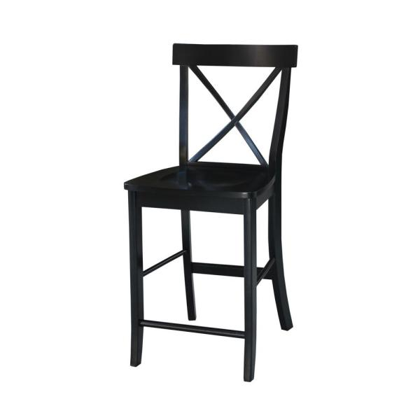 Office Star Products Patterson 24 In Black Bar Stool Set Of 4 Ptr3024a4 3 The Home Depot