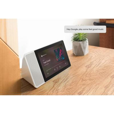 10 in. Smart Display with Google Assistant - White Front/Bamboo Back