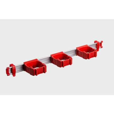 21.5 in. Red Garage, Garden and Sports Tool Organizer with 3 One-Size-Fits-All Tool Holders