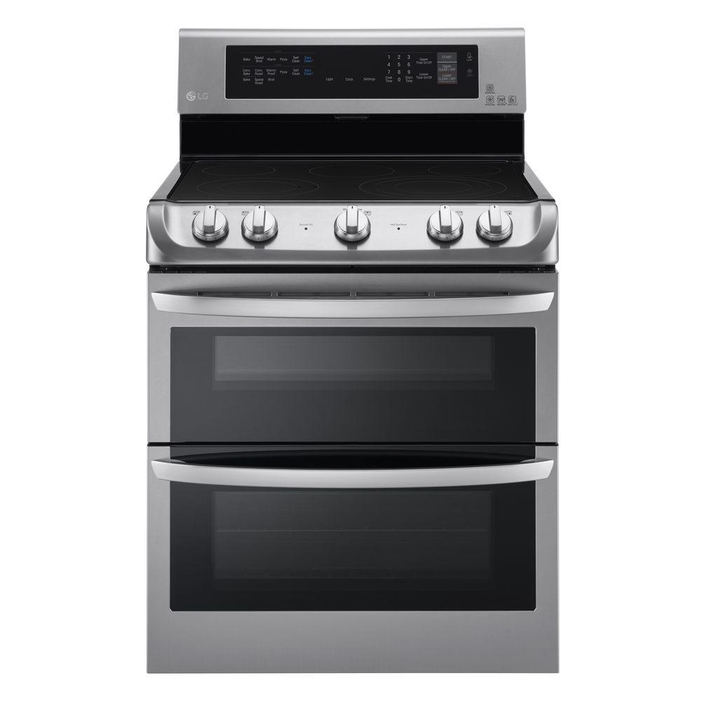 Double Oven Electric Range With Probake Convection Self