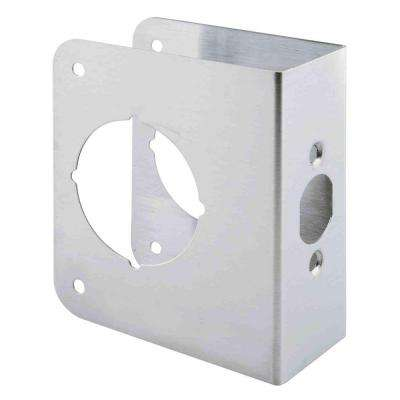 1-3/4 in. Thick Stainless Steel Door Reinforcer, 2-1/8 in. Single Bore, 2-3/4 in. Backset